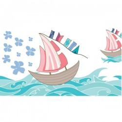 Vinilo muebles barcas navegando