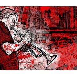 Vinilo armarios músicos de la calle