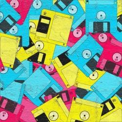 Vinilo para muebles disquetes vintage