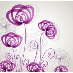 Adhesivo decorativo flores abstractas 2