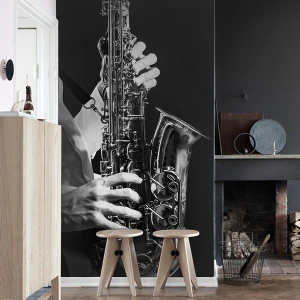 Fotomural saxophone jazz