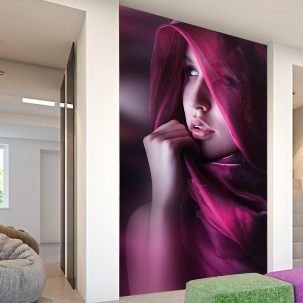Mural de pared la mujer de velo