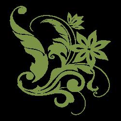 Vinilo adhesivo flor 16