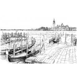 Fotomural ilustración de Venecia