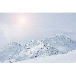 Fotomural montañas de blanco