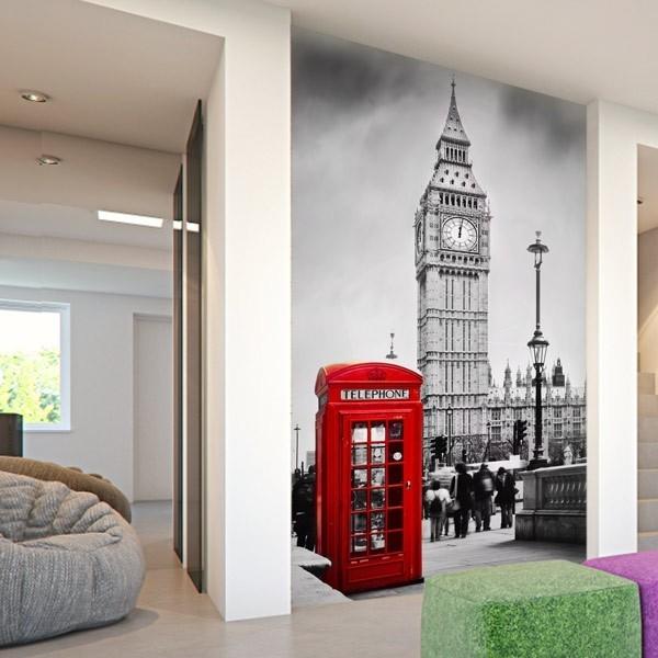Mural cabina telefónica de Londres