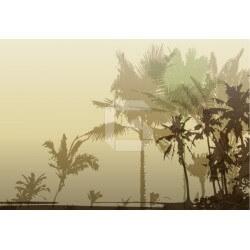Vinilo para armarios ilustración palmeras