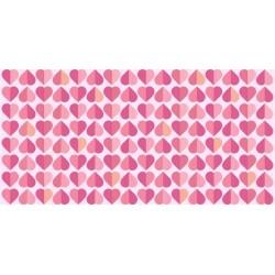 Vinilo muebles patrón de corazones