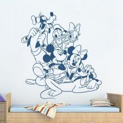 Pegatina amigos Mickey Mouse
