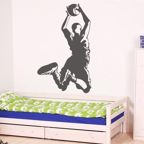 Adhesivo de pared jugador de baloncesto