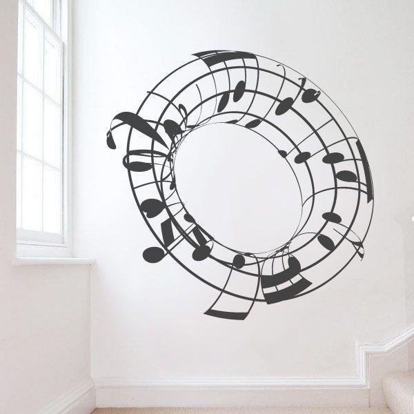 Vinilo Cilindro Pautas Musicales