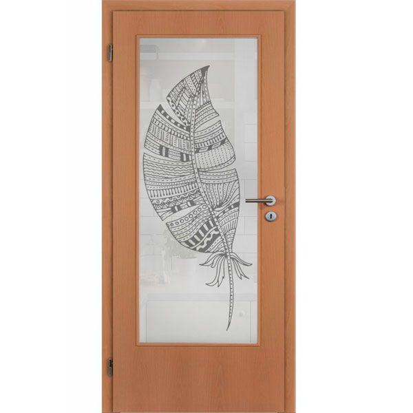 Vinilo pluma para puerta