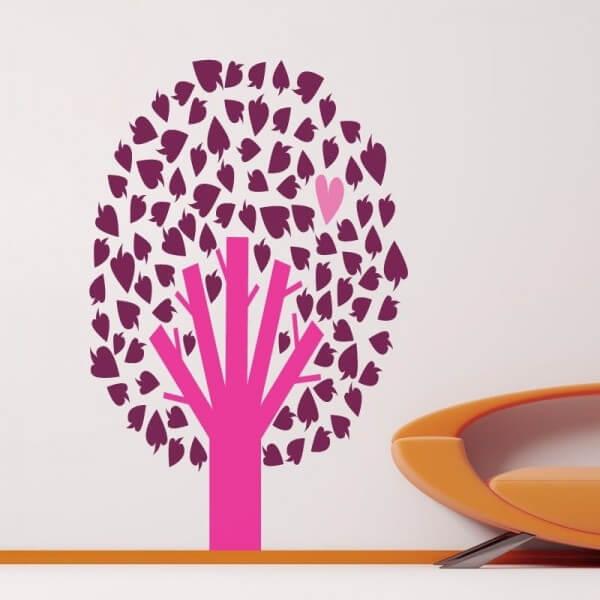 Vinilo infantil árbol con corazón