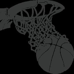 Vinilo canasta baloncesto