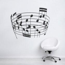 Vinilo embudo pautas musicales