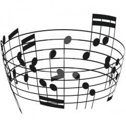 Vinilo embudo notas musicales
