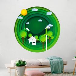 Vinilo agujero de pared ecológico