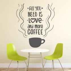 Vinilo all you need is love coffee