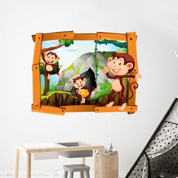 Vinilo monos enmarcados