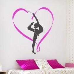 Vinilo decorativo gimnasta