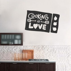 Adhesivo de frases cooking...
