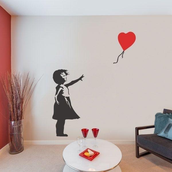 Adhesivo Banksy Niña Con Globo