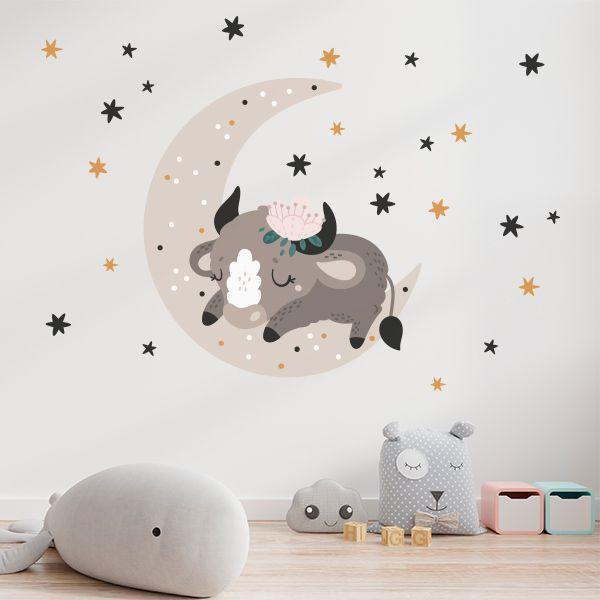 Vinilo infantil toro durmiendo