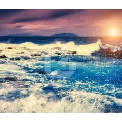 Fotomural playa al atardecer 1