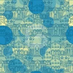 Adhesivo ilustración de casas