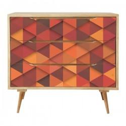 Vinilo muebles textura de triángulos