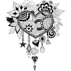 Vinilo corazón atrapa sueños