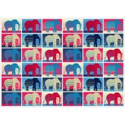 Vinilo para cómodas elefantes en colores