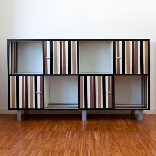 Vinilos decorativos l neas marrones adhesivos para muebles for Adhesivos decorativos para muebles