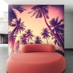 Mural pared palmeras 1