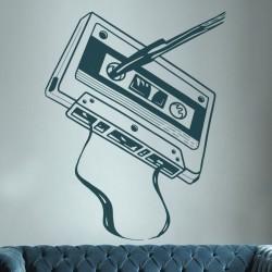 Pegatina decorativa cassette