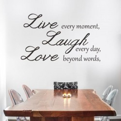 Vinilo de frases live, laugh, love