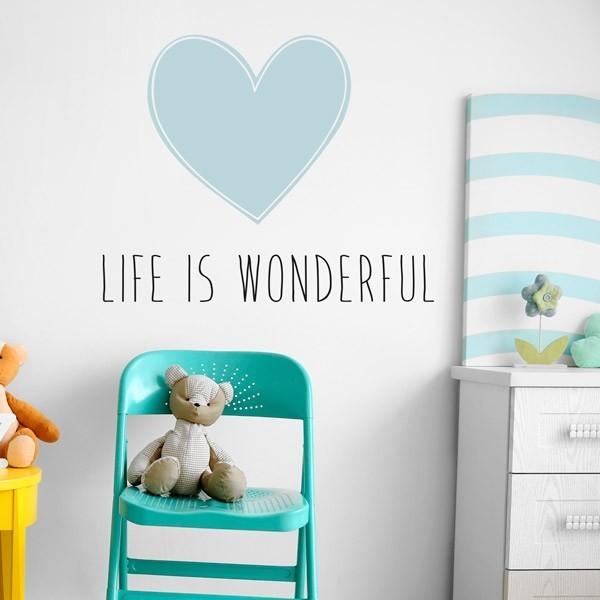 Vinilo adhesivo life is wonderful