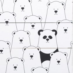 Vinilo para cómoda ikea pandas