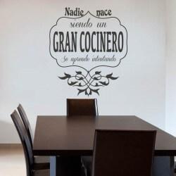 Gran cocinero | vinilos decorativos, fotomurales y textos en vinilo