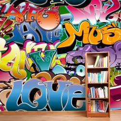 Fotomural graffiti music