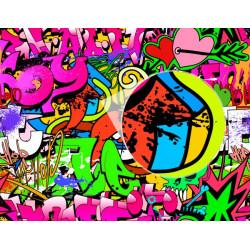 Fotomural graffiti corazones