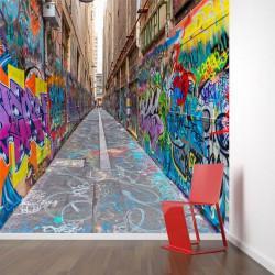 Fotomural calle de los grafitis