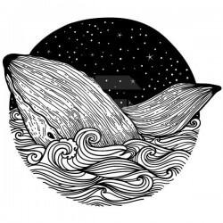Vinilo adhesivo ballena círculo