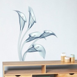 Vinilo decorativo radiograma flor