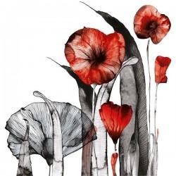 Vinilo ilustración flores