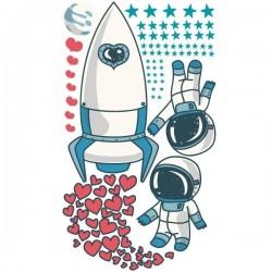 Vinilo adhesivo astronautas