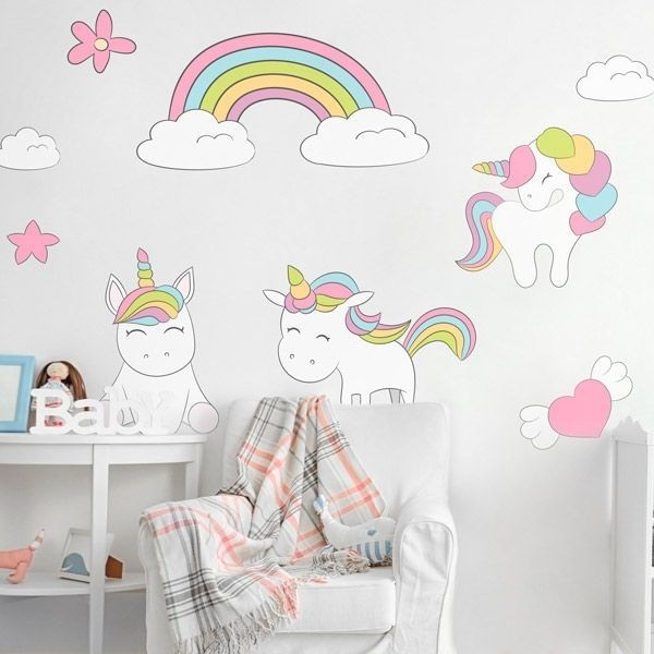 Unicornios 1 vinilos decorativos para transformar tu casa for Vinilos muebles infantiles