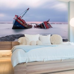 Fotomural barco naufragado