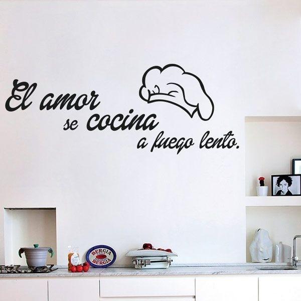 El amor se cocina vinilo decorativo para transformar tu casa - Vinilos cocina originales ...