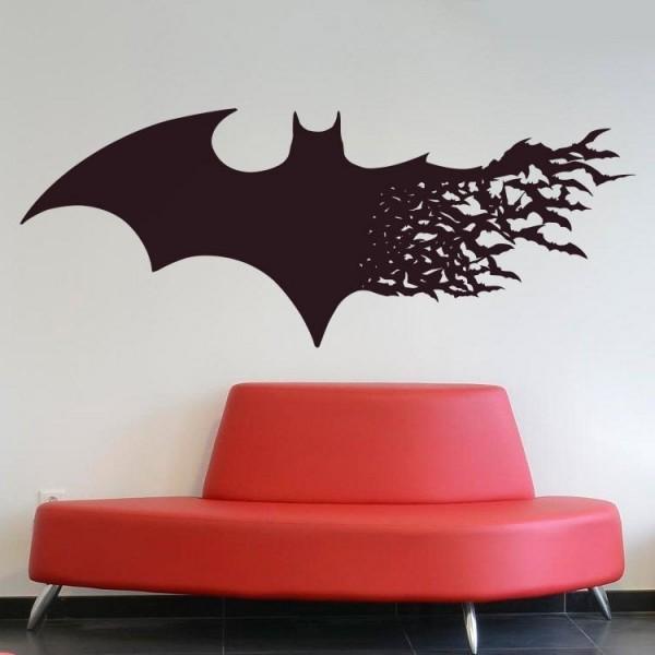 Vinilo Batman y murciélagos